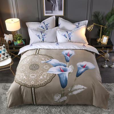 2020新花色大版植物羊绒四件套总汇 1.5m床单款四件套 松花洛
