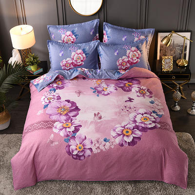 2019新花色大版植物羊絨四件套總匯 1.8m床單款四件套 芭提雅