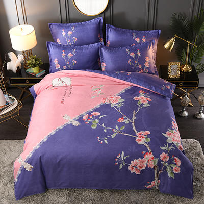 2019新花色大版植物羊絨四件套總匯 1.8m床單款四件套 美好夢境
