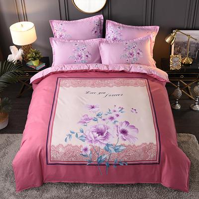 2020新花色大版植物羊绒四件套总汇 1.8m床单款四件套 倾颜花开