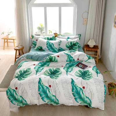 2020新款芦荟棉四件套新花色 1.0m床单款三件套 热带雨林