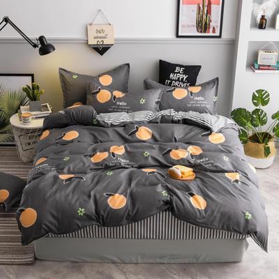 2020新款芦荟棉四件套新花色 1.0m床单款三件套 乐橙