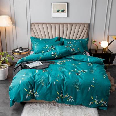 2020新款植物羊绒小版四件套 1.2m床单款三件套被套150*200cm 爱丽莎
