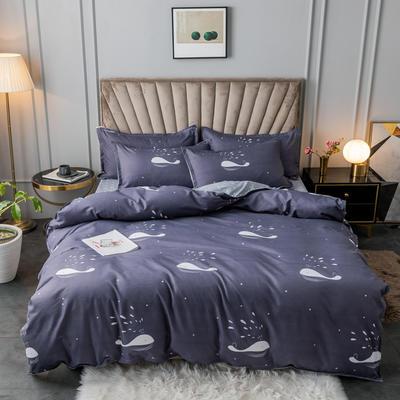 2020新款植物羊绒小版四件套 1.2m床单款三件套被套150*200cm 快乐海豚