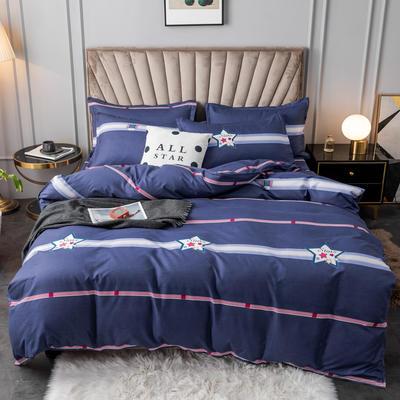 2020新款植物羊绒小版四件套 1.2m床单款三件套被套150*200cm 星空之恋