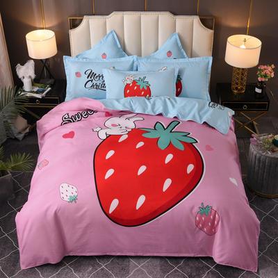 2020新花色大版植物羊绒四件套总汇 1.5m床单款四件套 动漫草莓