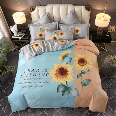 2020新花色大版植物羊绒四件套总汇 1.5m床单款四件套 向日葵