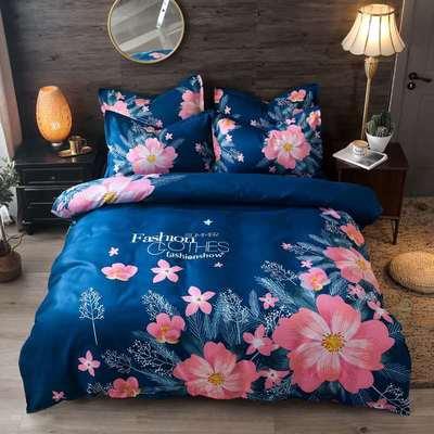 2020新花色大版植物羊绒四件套总汇 1.5m床单款四件套 叶语瑶香