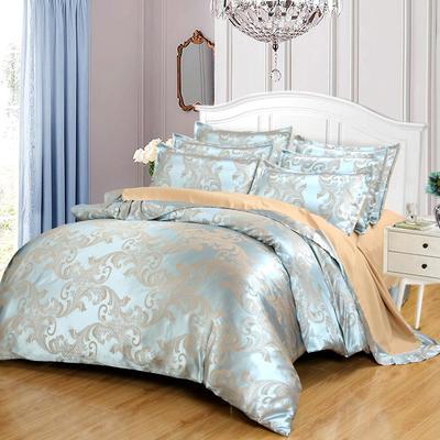 贡缎提花床单款四件套 1.5m(5英尺)床 琳达和珍妮(丁香紫)