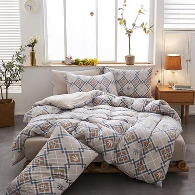 2020新款针织棉印花四件套 1.5m床单款四件套 多彩阁