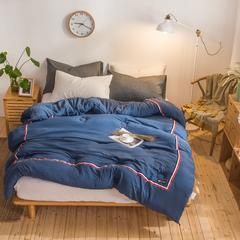 冬被 水洗棉织带运动风冬被 1.5*2.0(6斤) 蓝