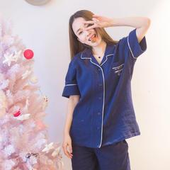 2018新款-水洗棉女款藏青 M(适合体重45-55) 藏青