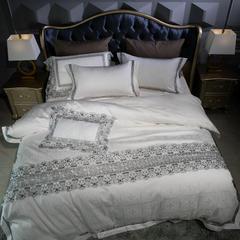 100S全棉提花系列四件套(伊丽莎白) 1.8m(6英尺)床 伊丽莎白
