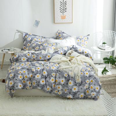 全棉ins简约风四件套件(尺寸随意搭配) 1.2m床单款(被套1.6m) 花开朵朵