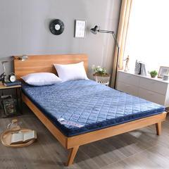 法兰绒6CM厚纯色系列立体床垫 1.0*2.0m 蓝色