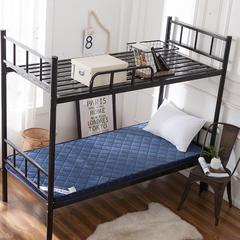 法兰绒6厘米厚立体纯色款床垫 1.0*2.0m 蓝色