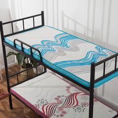 记忆棉单人床垫(潮流风) 0.9 * 1.9m 蓝色经典6.5cm