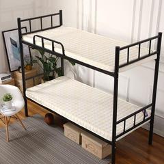 记忆棉单人床垫(简约风) 0.9 * 1.9m 白色6.5cm