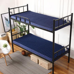 记忆棉单人床垫(简约风) 1.2 * 2.0m 蓝色10cm