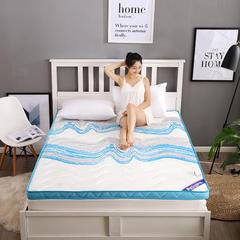 潮流风记忆棉床垫 1.8*2m 蓝色经典6.5cm