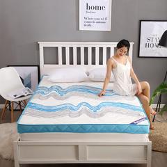 潮流风记忆棉床垫 0.9*2m 蓝色经典10cm