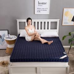 简约风 记忆棉床垫 0.9*2m 蓝色6.5cm
