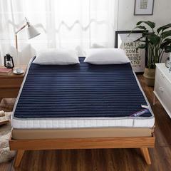 蓝白配 可全拆两用加厚床垫 0.9*2.0m*7cm 蓝色直线可全拆