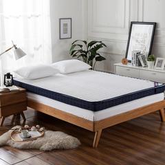 蓝白配 可全拆两用加厚床垫 1.2*2.0m*7cm 白色直线可全拆