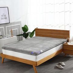 绒面+透气 双面用 记忆棉绗缝款 榻榻米床垫 1.2*2.0m 灰色10cm