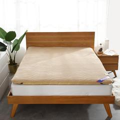 绒面+透气 双面用 记忆棉绗缝款 榻榻米床垫 1.5*2.0m 驼色6cm
