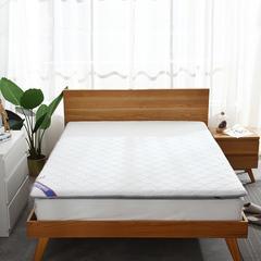针织棉+透气 双面用 记忆棉绗缝款 榻榻米床垫 1.8*2.0m 白灰6cm