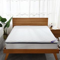 针织棉+透气 双面用 记忆棉绗缝款 榻榻米床垫 1.5*2.0m 白蓝6cm