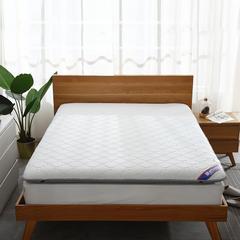 针织棉+透气 双面用 记忆棉绗缝款 榻榻米床垫 0.9*2.0m 白灰10cm
