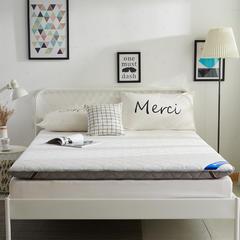 针织布纤维棉绗缝床垫(10cm) 0.9m 白灰