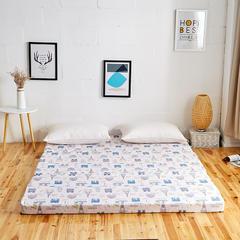 6色:可折叠高密度海绵床垫 (5公分) 1.8x2m 英伦风尚