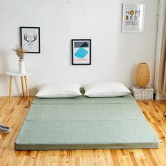 6色:可折叠高密度海绵床垫(8公分) 1x2m 草绿