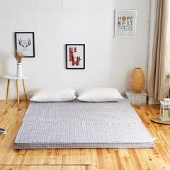 6色:可折叠高密度海绵床垫(8公分) 1.5x1.9m 简约方格