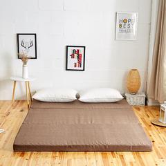 6色:可折叠高密度海绵床垫(8公分) 1x2m 咖啡