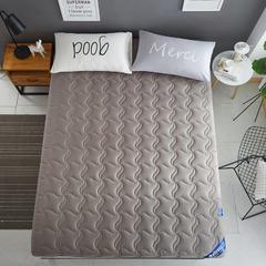 2个厚度全棉纯色抗菌床垫 床褥(压缩6厘米款床垫) 120*200 灰