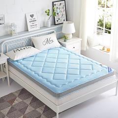 清凉一夏记忆棉床垫莫代尔(3D透气立体天蓝11CM ) 1*200 天蓝