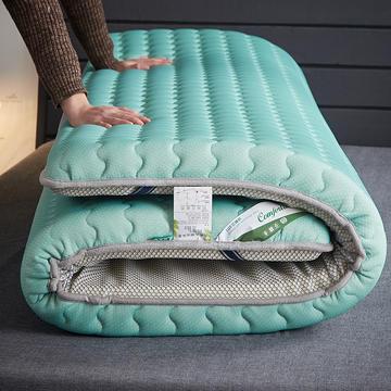 2019新品乳胶三明治抗压透气床垫 0.9*0.9 乳胶水蓝色6厘米