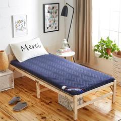 2019新品加厚5厘米款 学生床垫磨毛AB版透气床垫 0.9*1.9 蓝色AB版