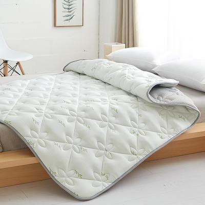 2019新品加厚2厘米特種絎縫乳膠床褥 0.9*2 乳膠床褥白色