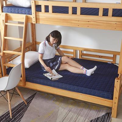 2019新款-單人床 簡約風記憶海綿學生床墊床墊 0.9*1.9,0.9*2 藍色6cm