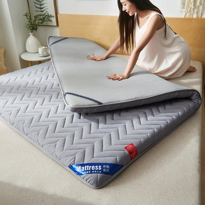 2019新款磨毛透氣加厚5厘米床墊 90*200 灰色