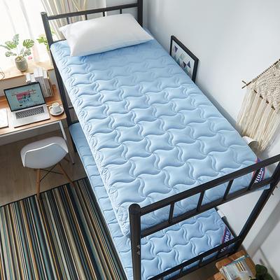 2019新款加厚5厘米 單人床水洗棉防滑床墊 90*200 天藍
