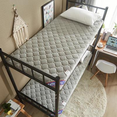 2019新款單人床親膚牛奶絨5厘米厚防滑床墊 90*200 灰色