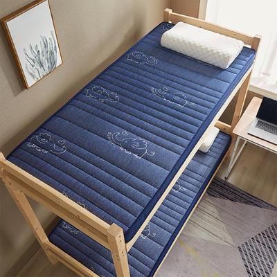 单人床椰棕乳胶床垫约5厘米厚 0.9*1.9 乳胶椰棕-立体蓝色小飞象