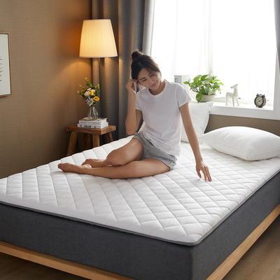 素色水洗棉防滑床垫 1.0m 白色斜方格