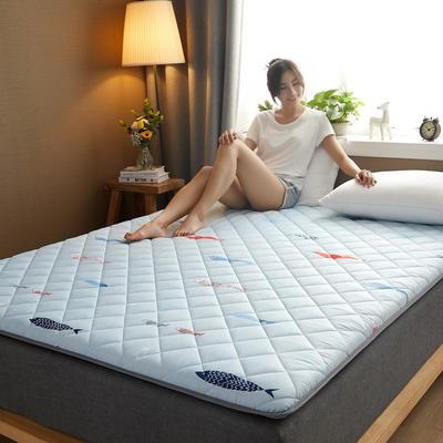 素色水洗棉防滑床垫 1.0m 海底世界